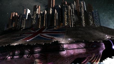 A Star Whale with Starship U.K. on its back.