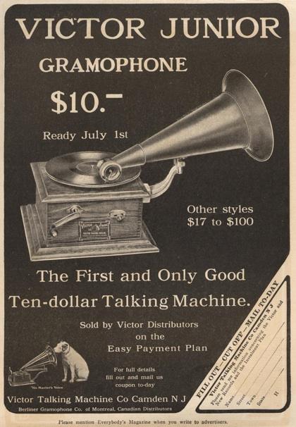 Victor Junior Gramophone steampunk music