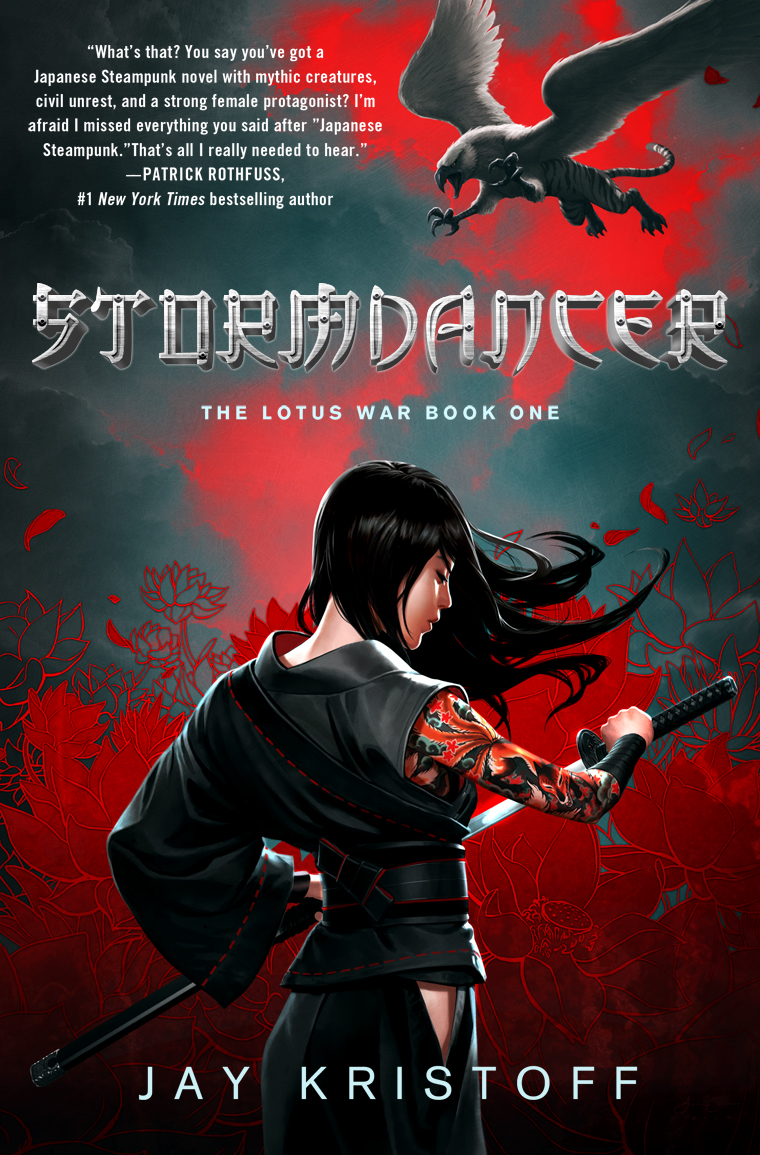 The cover for Jay Kristoff's Stormdancer