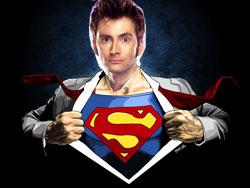 Doctor Who Superman Man of Steel TARDIS Same Character David Tennant