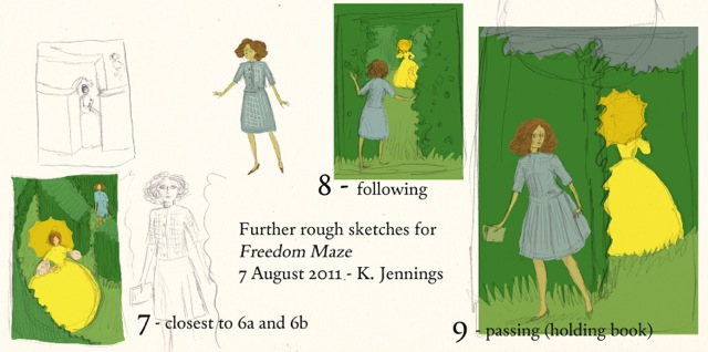The Freedom Maze sketches Kathleen Jennings