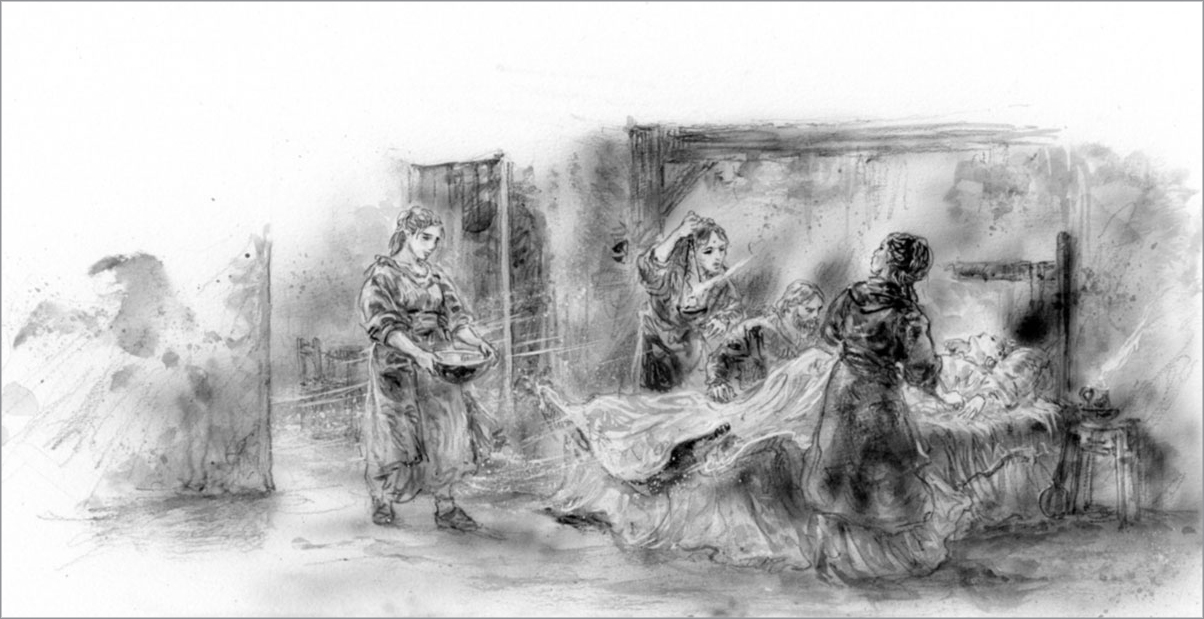 Luis Royo The Ice Drag George RR Martin sketch