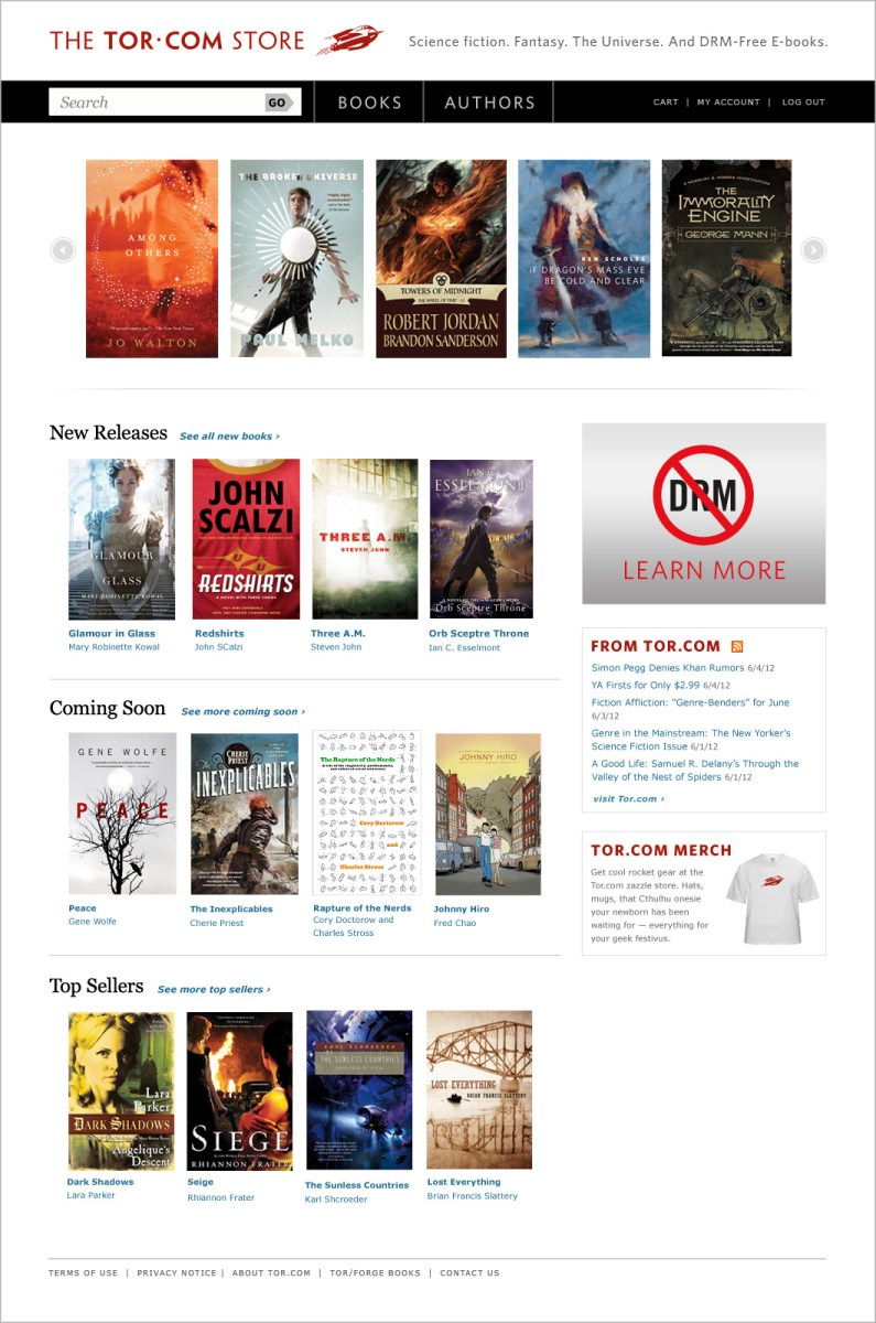 Tor Books Announces Ebook Store: Doctorow, Scalzi & Stross Talk Drmfree   Tor