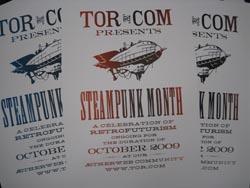 Tor.com lettreprress steampunk poster