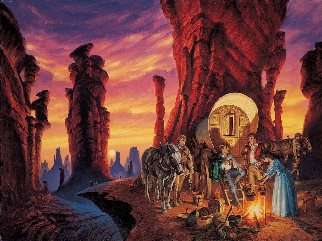 The Shadow Rising cover by Darrell K Sweet
