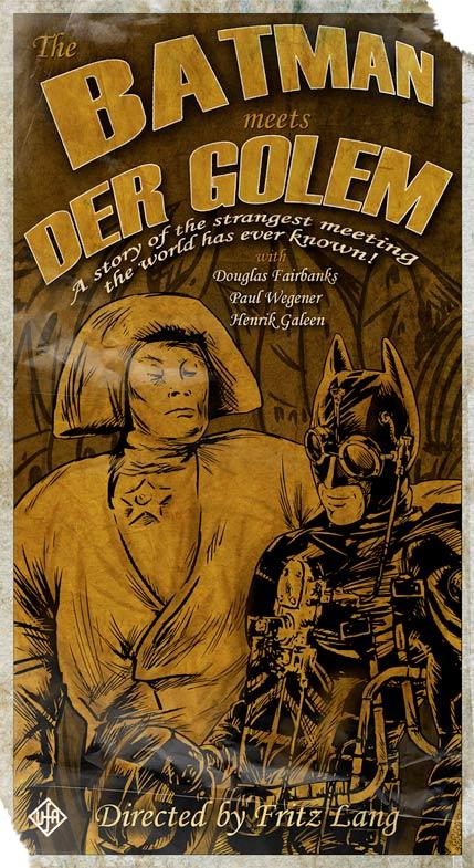 The Batman Meets Der Golem by Ken Miller