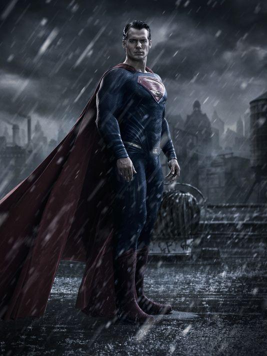 first look Superman Henry Cavill Batman v Superman: Dawn of Justice sad Batman Ben Affleck photo