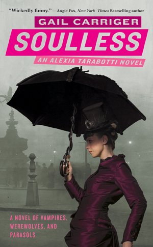 Cover of Gail Carriger's Soulless, the first book of the series
