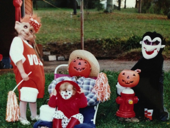 """My best friend's guess on what this costume was supposed to be: """"Ed Gein?"""""""