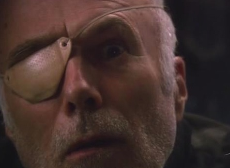 8 Essential Eyepatches in Science Fiction Col. Tigh Battlestar Galactica