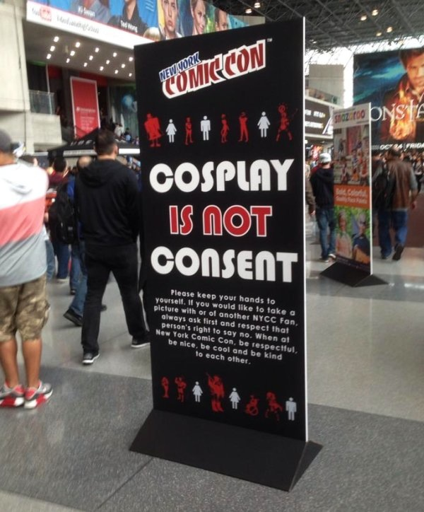 NYCC harassment policy cosplay not consent