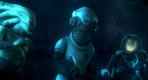 Star Wars: The Clone Wars, Kit Fisto, Ackbar, Anakin