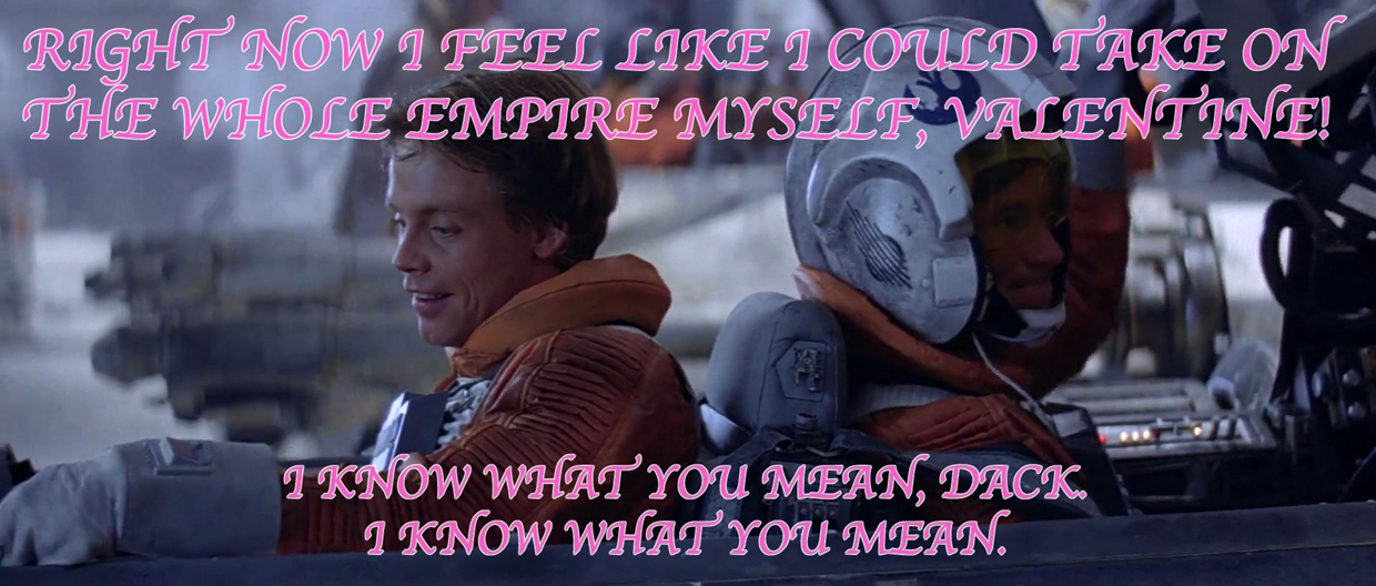 Star Wars: Rogue Squadron Valentine's Day cards
