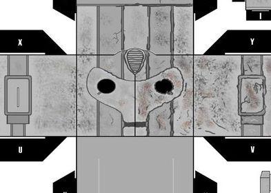 Damanged Cyberman Cubee papercraft