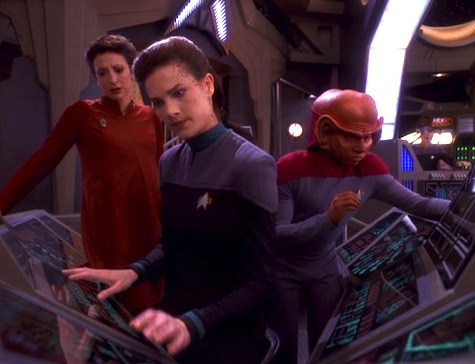 Deep Space Nine, The Darkness and the Light, Kira, Dax, Nog