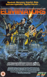 The Eliminators Tank/Human Centaur VHS Cover