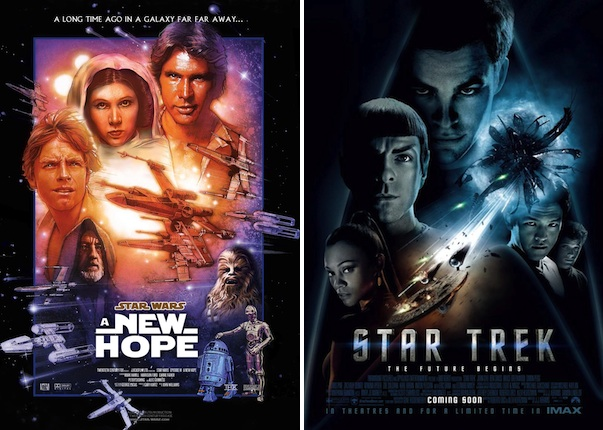 Star Wars Star Trek posters