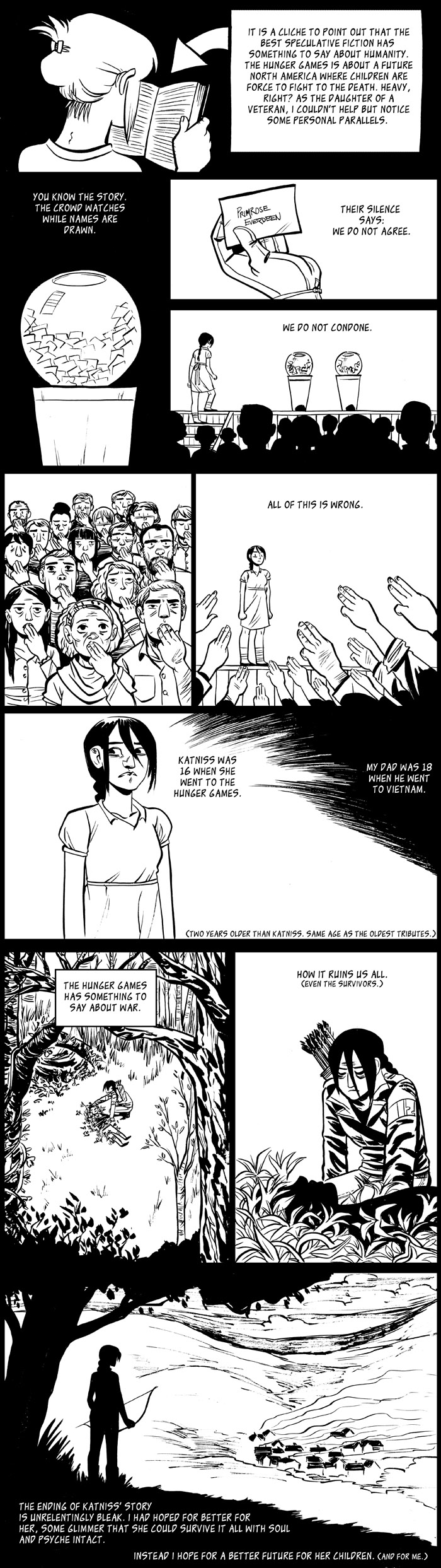 The Hunger Games comic by Faith Erin Hicks