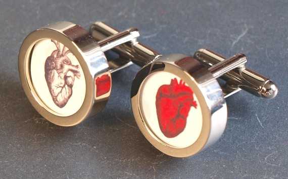 Anatomic Heart Cuff Links