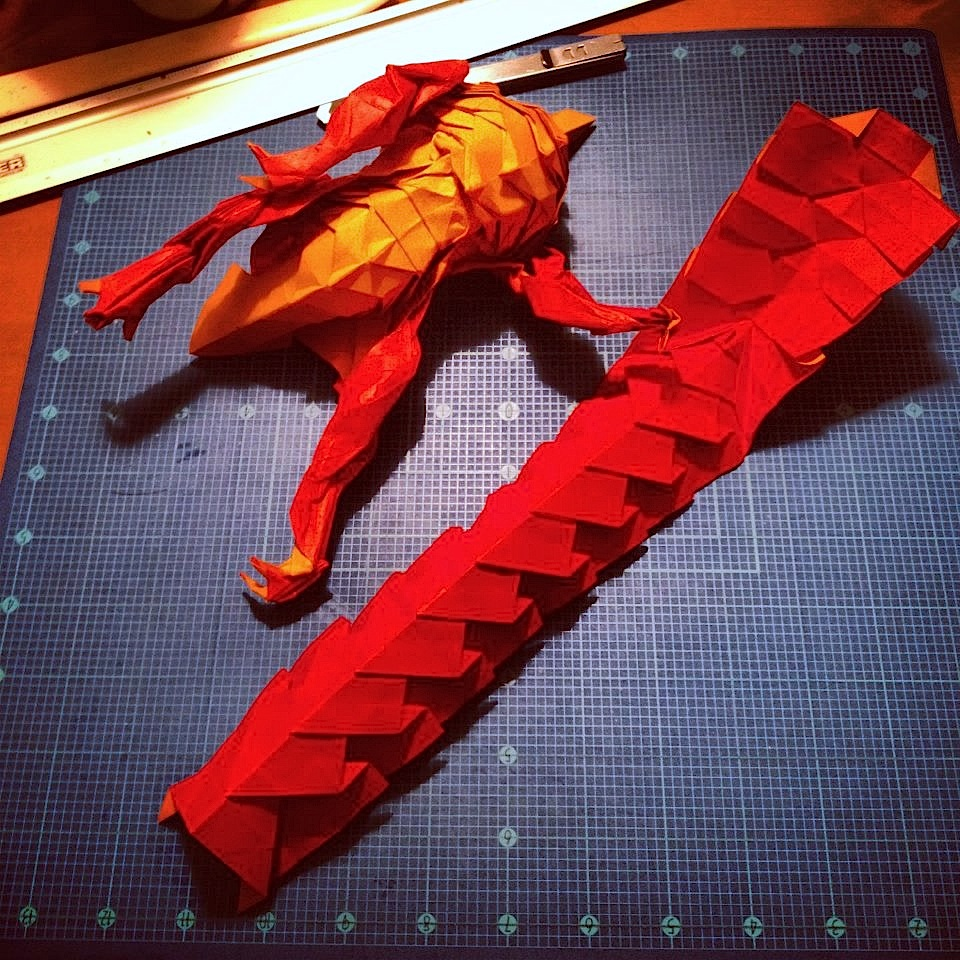 Origami Smaug the Dragon by Joseph Wu