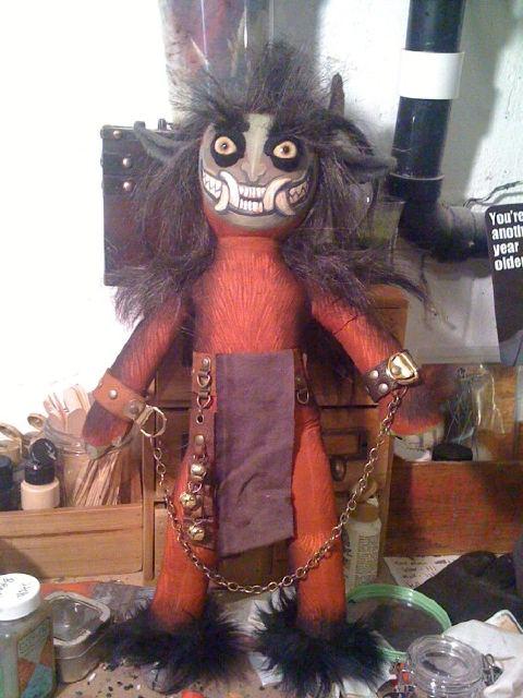 Krampus doll by Melita Curphy