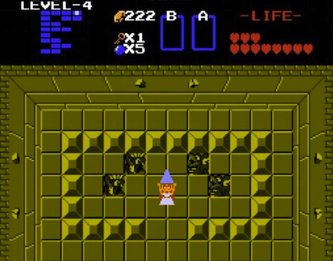 The Legend of Zelda game Zelda as hero