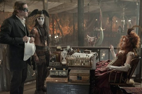 The Lone Ranger, Armie Hammer, Johnny Depp, Helena Bonham Carter