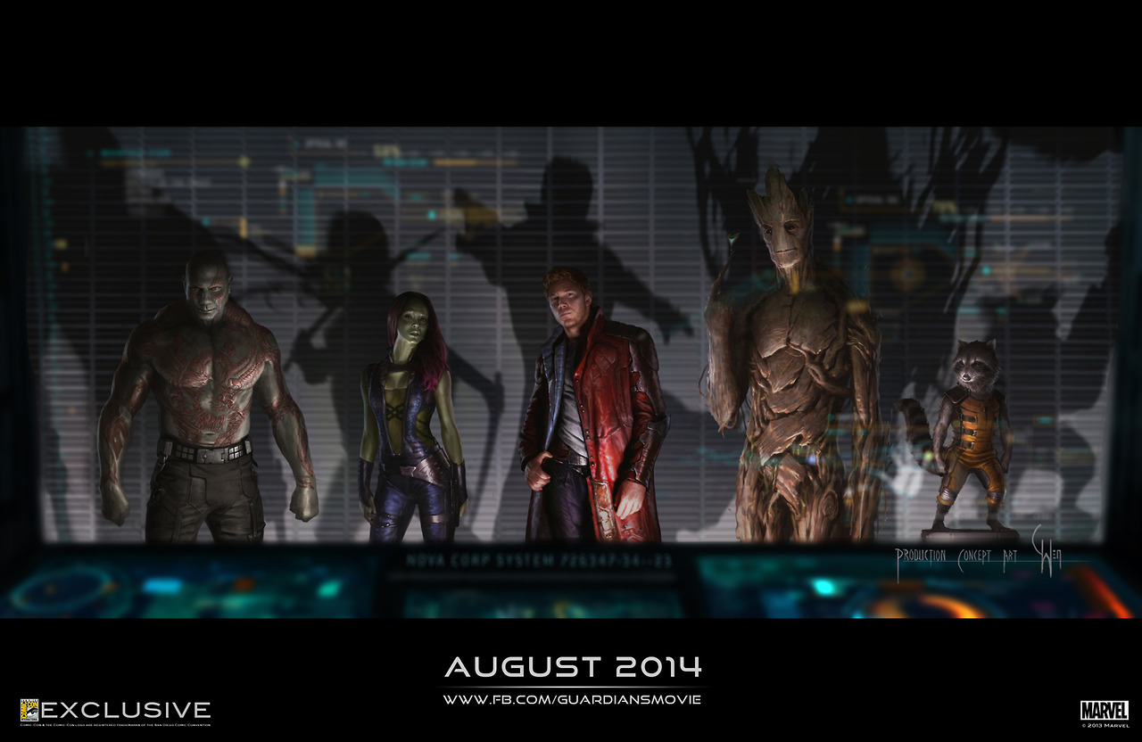 Avengers Age of Ultron Guardians of the Galaxy Nova Corps Marvel San Diego Comic Con