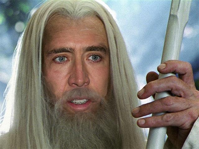 Nicolas Cage as everyone Gandalf