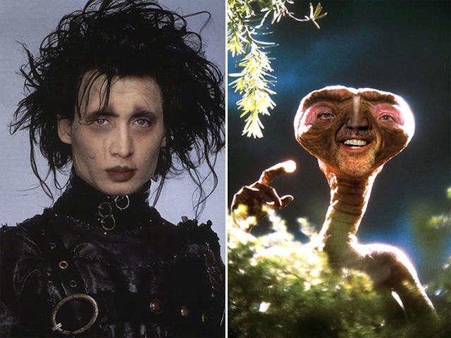 Nicolas Cage as everyone Edward Scissorhands ET