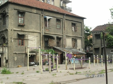 The courtyard where I grew up