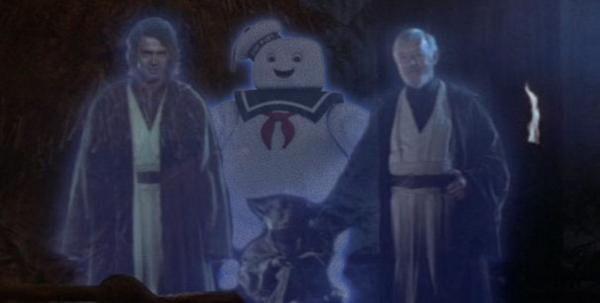 #AddAPuftRuinAMovie Stay Puft Marshmallow Man Ghostbusters best of Star Wars Force ghosts