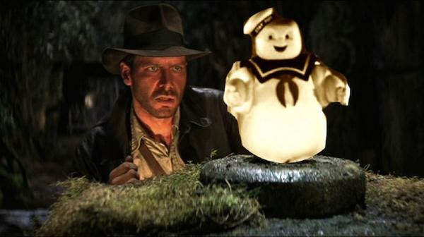 #AddAPuftRuinAMovie Stay Puft Marshmallow Man Ghostbusters best of Indiana Jones