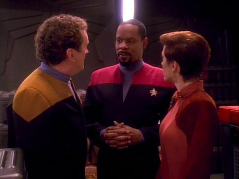 Star Trek Deep Space Nine, Explorers, Sisko, O'Brien, Kira