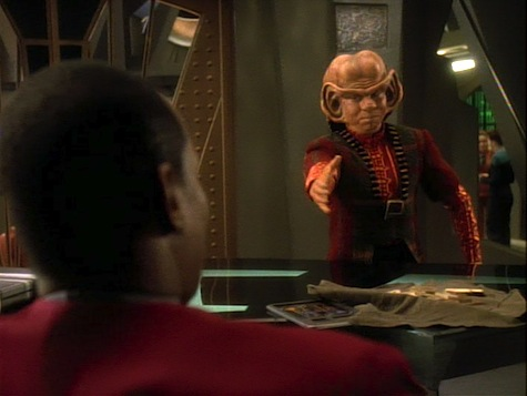 Star Trek Deep Space 9, Heart of Stone, Sisko, Nog