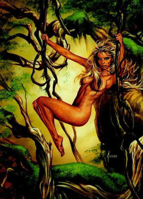 Tarzan and jane at cartoon sex scene 5