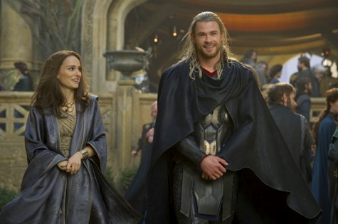 Thor the darkworld, thor and jane, chris hemsworth, natalie portman