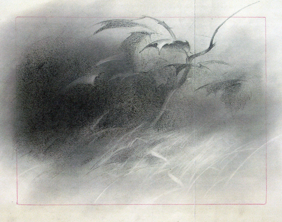 Tryus Wong's Bambi concept art.