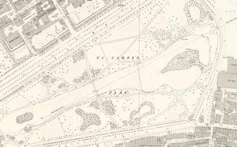 St. James' Park, Victorian maps
