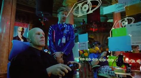 The Zero Theorem trailer Terry Gilliam Christoph Waltz Tilda Swinton very cool creepy