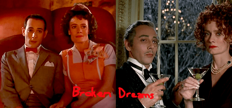 Pee-Wee Herman and Simone, the Cobblepots