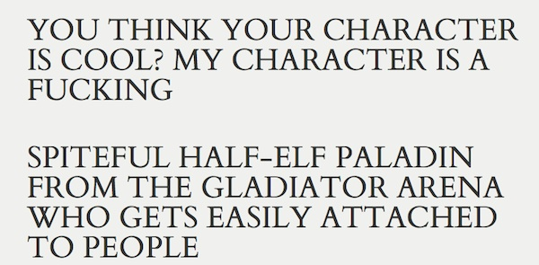 who the fuck is my D&D character generator