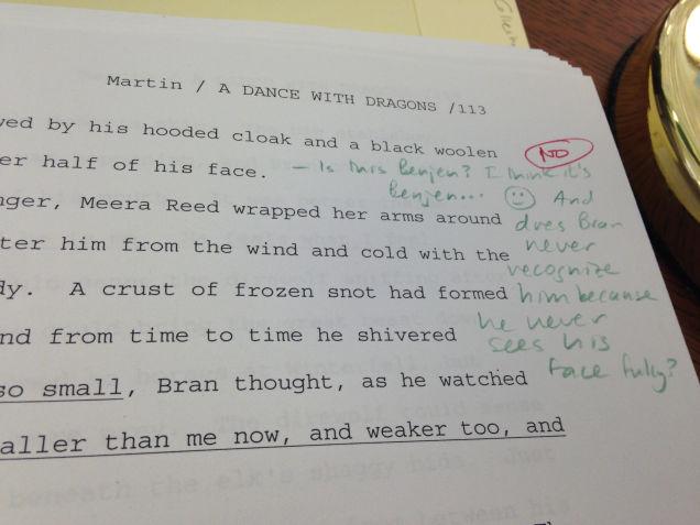Dance With Dragons manuscript spoiler