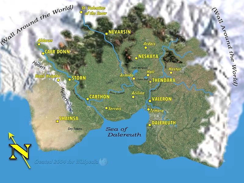 Darkover map Marion Zimmer Bradley snow planet