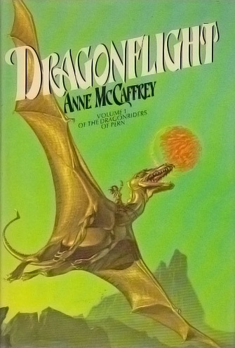 Dragonflight Anne McCaffrey Michael Whelan book cover