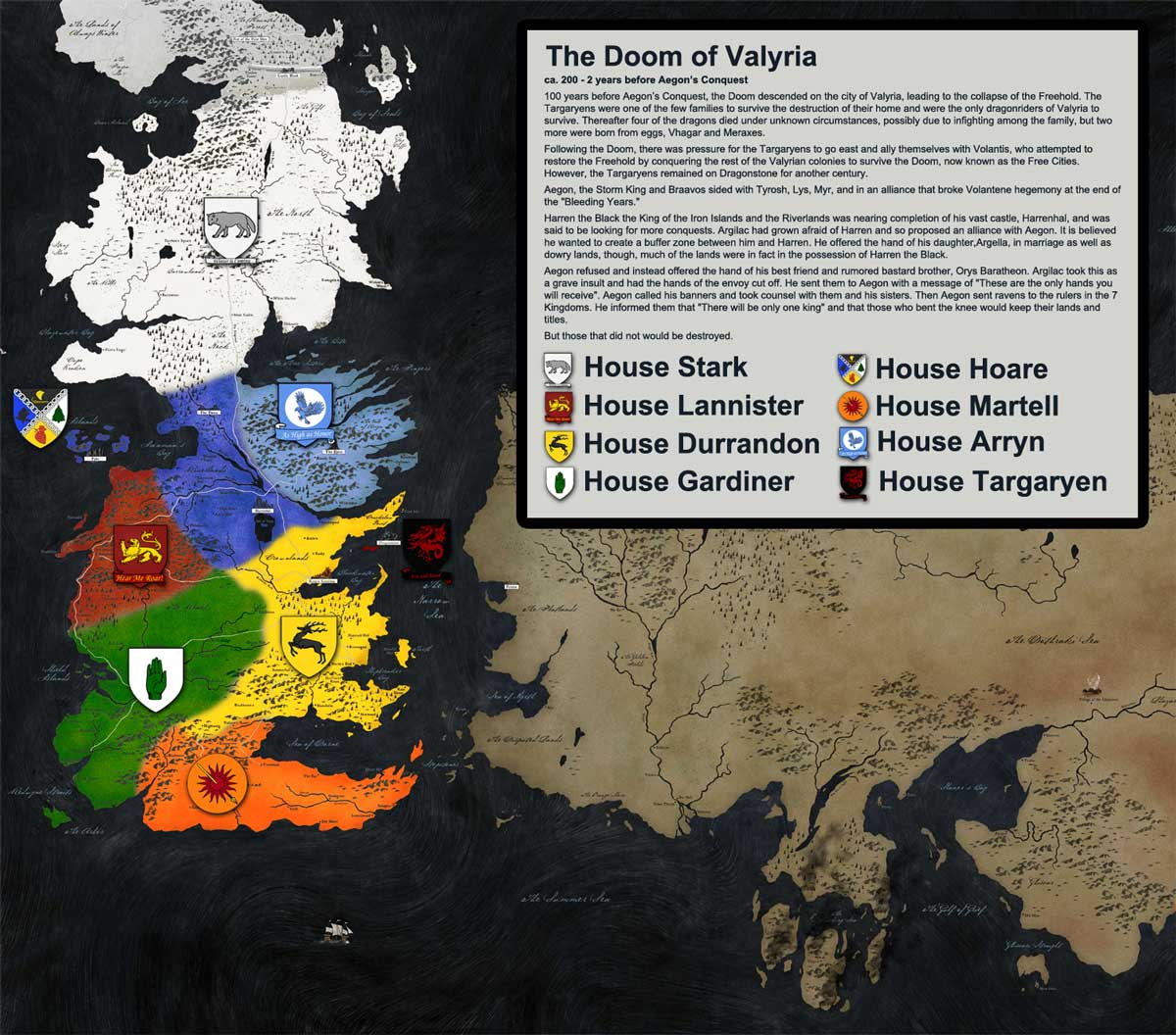 The Entire History of Westeros Explained in 9 Maps | Tor.com