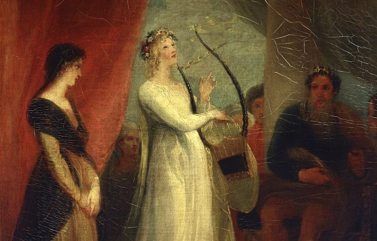 "Detail from ""Marina singing before Pericles"" by John Stothard, 1825"
