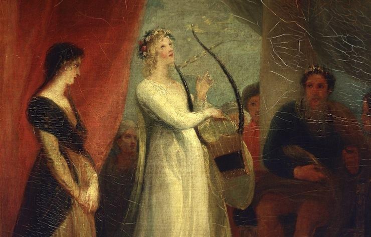 "Detail from ""Marina singing before Pericles"" by John Stothard, 1825"