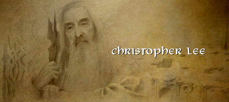 Christopher Lee in the end credits of The Return of the King