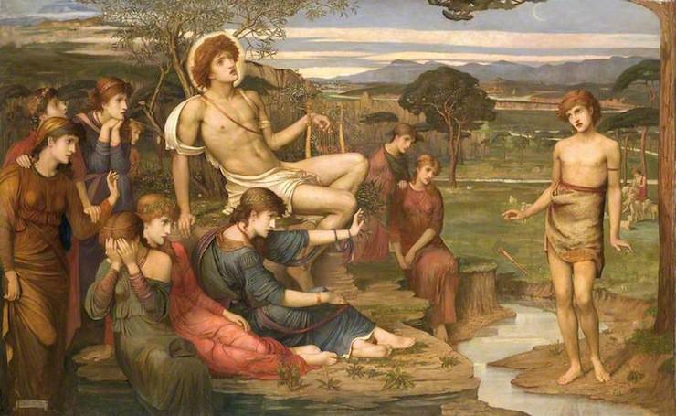 """Apollo and Marsyas"" by John Melhuish Strudwick, 1879"